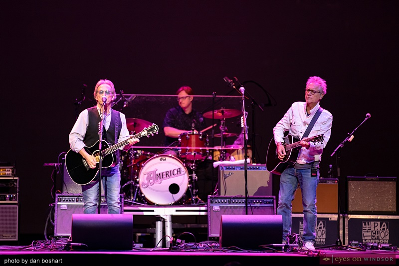 America band members Dewey Bunnell, Ryland Steen and Gerry Beckley