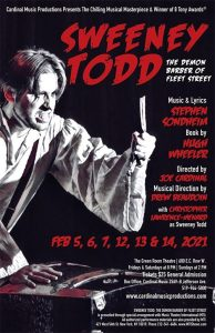 Sweeney Todd Cardinal Music Productions Poster