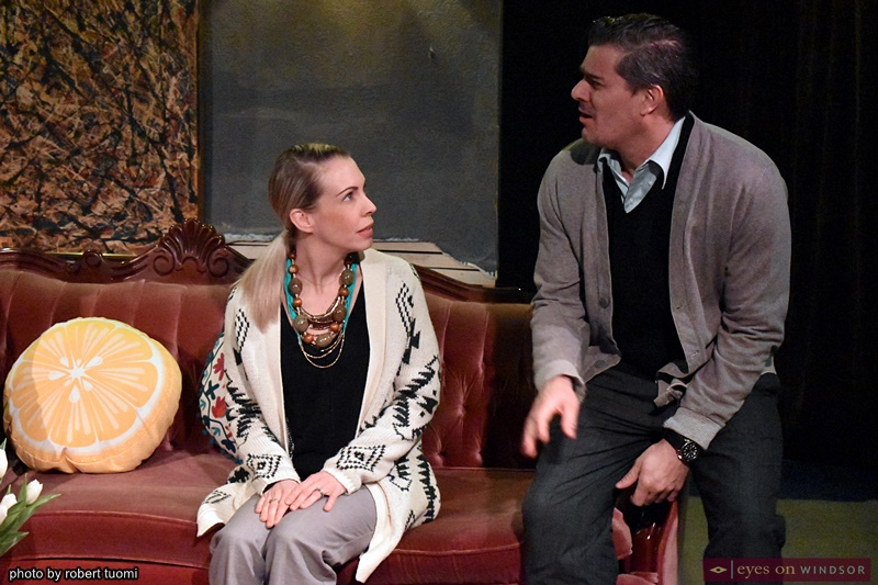Elinor Price and Matt Maenpaa in Ghost Light Players God of Carnage