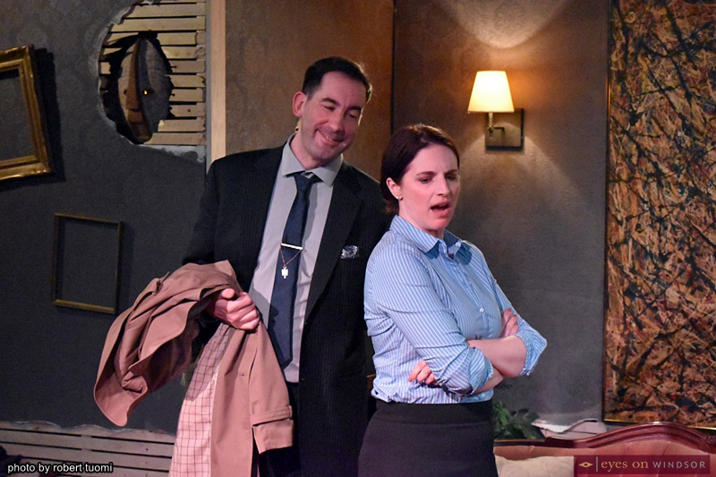 Jeff Bastien and Kristen Dias in God of Carnage by Ghost Light Players