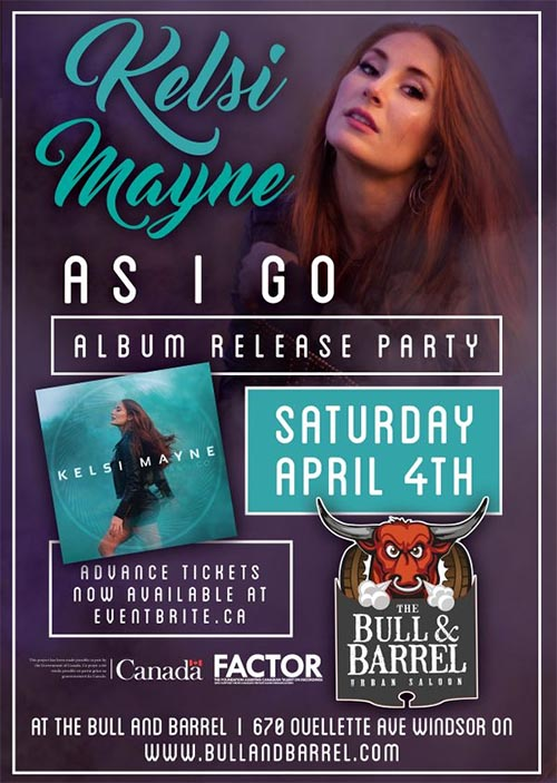 Kelsi Maye Debut Album Release Party Poster