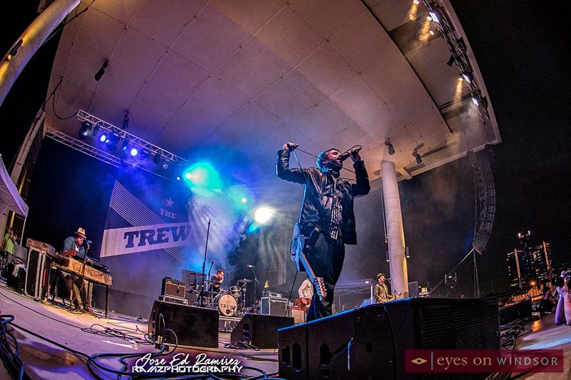The Trews Pefrorming at Riverfront Festival Plaza in Windsor, Ontario