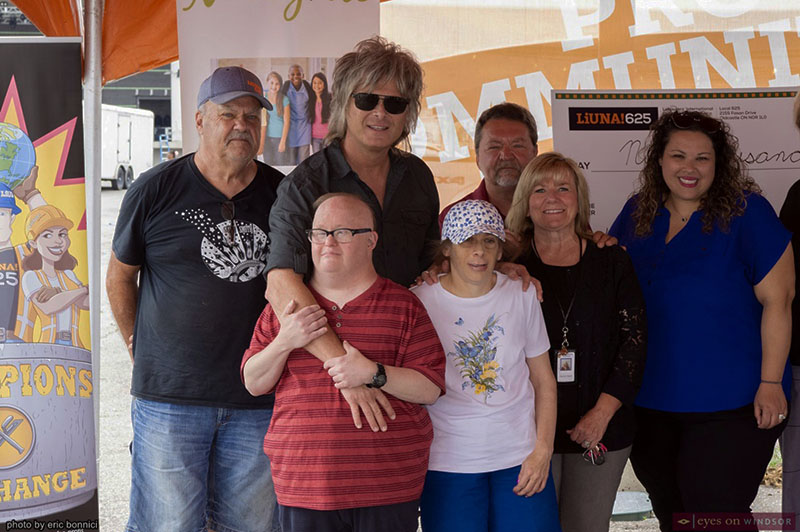 Jeff Burrows 24 Hour Drum Marathon Check Presentation to Charity