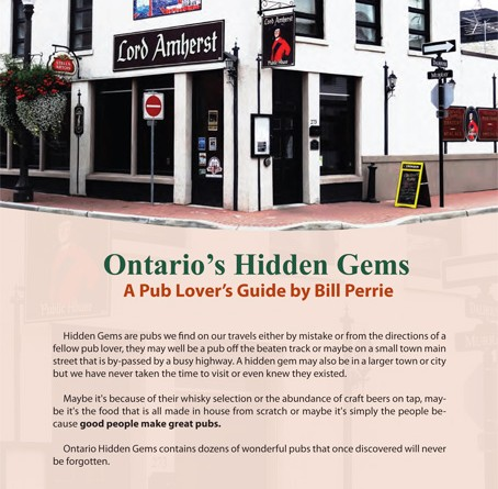 Lord Amherst Public House: Book Signing & Launch, Ontario's Hidden Gems a Pub Lovers Guide by Bill Perrie