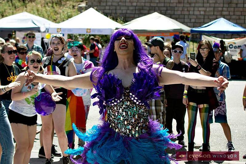 Windsor Essex Pride Fest People Having Fun