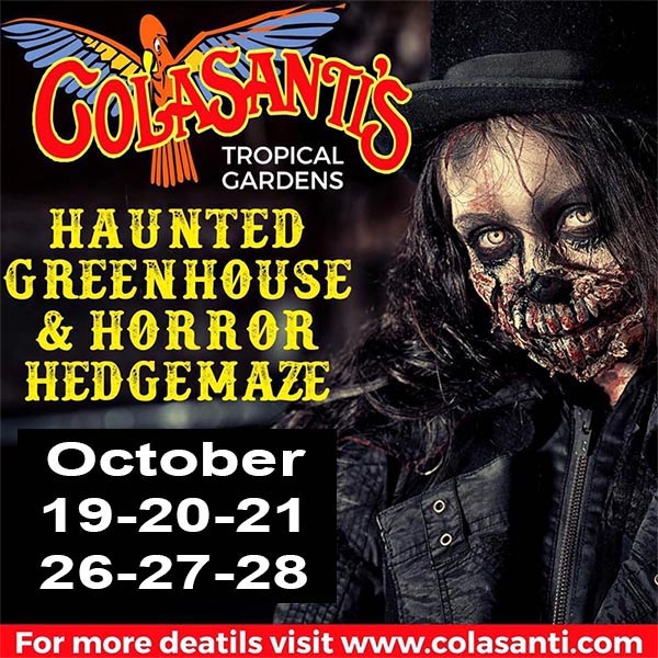 Colasanti's Haunted Greenhouse & Horror Hedgemaze Poster