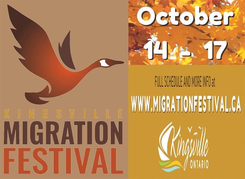kingsville migration festival poster