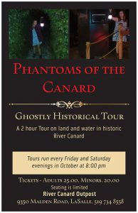 Phantoms of the Canard Ghost Tours Poster