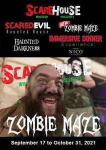Scarehouse Windsor Haunted House Poster | Haunted Darkness Zombie Maze