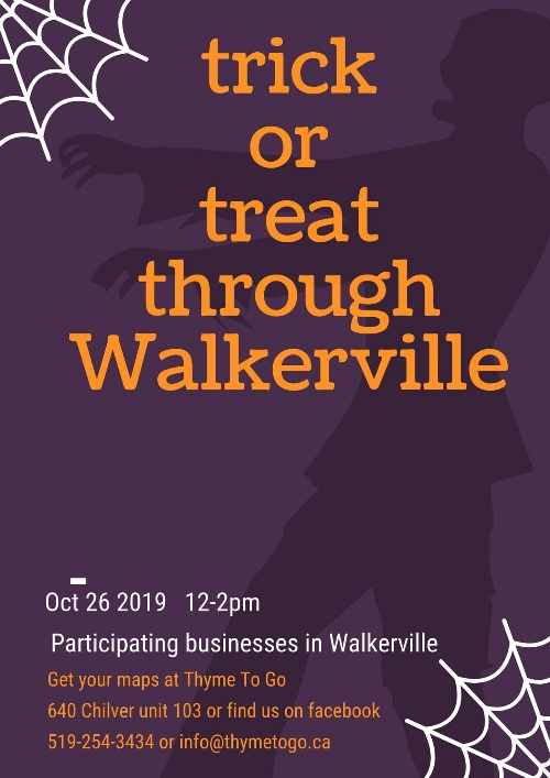 Trick or Treat Through Walkerville Poster