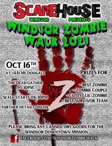 Windsor Zombie Walk Poster
