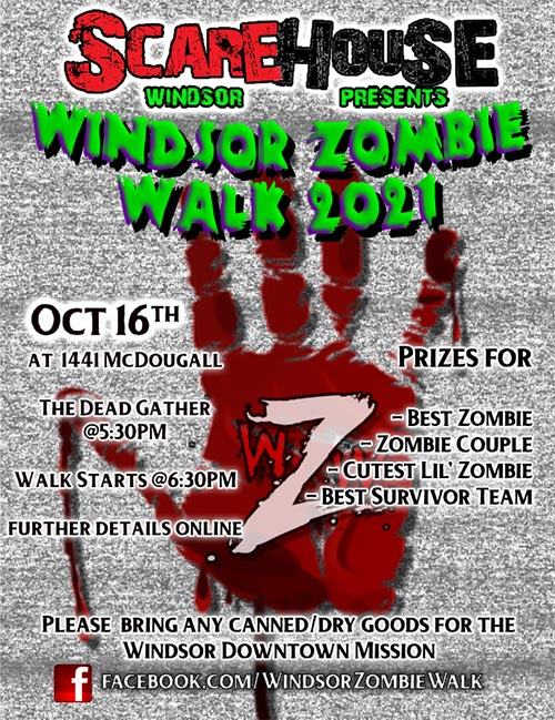 Windsor Zombie Walk Poster