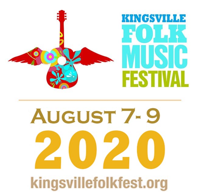Kingsville Folk Music Festival Logo and Date