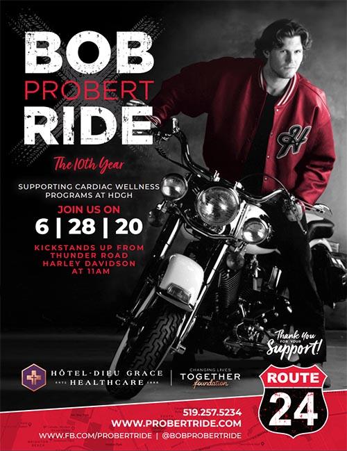 Bob Probert Ride Poster