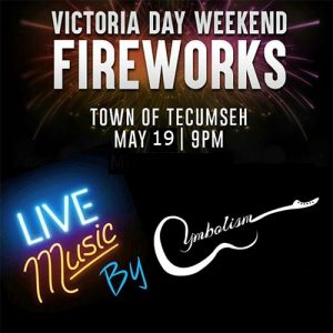 Victoria Day Fireworks Show in Tecumseh, Ontario.