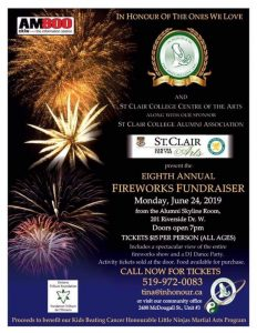 In Honour of The Ones We Love Fireworks Fundraiser Poster