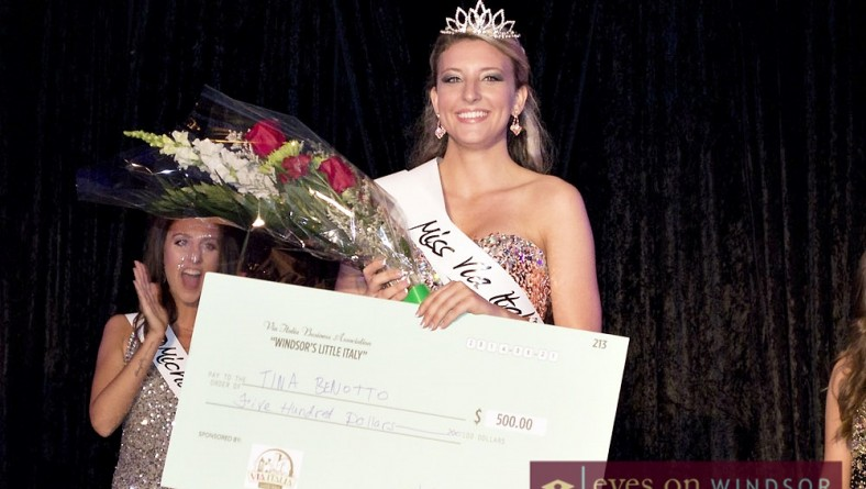 Tina Benetto Crowned Windsor's Miss Via Italia 2014 at Carrousel Around The City