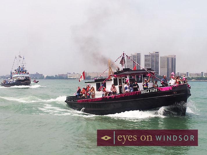 international tug boat race on the Detroit River