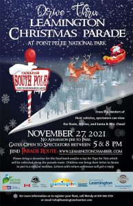 Drive Through Leamington Christmas Parade at Point Pelee Poster