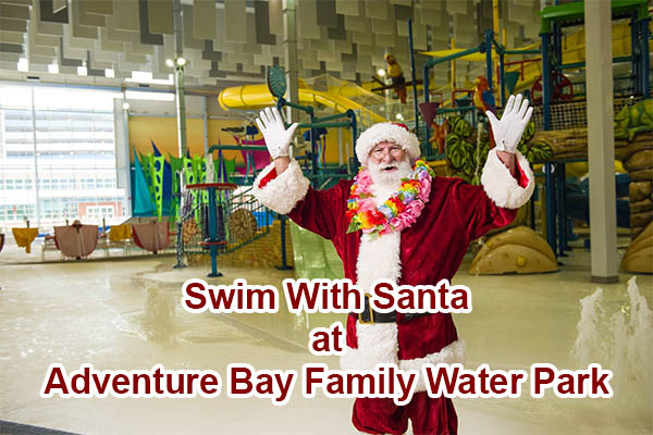 Swim With Santa at Adventure Bay Family Waterpark