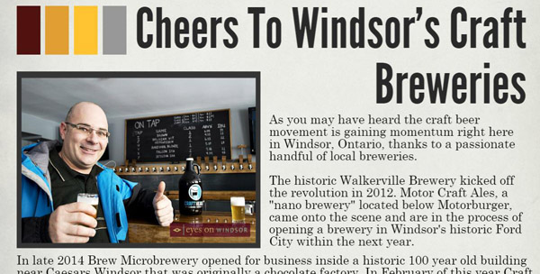 Happy National Beer Day: Cheers To Windsor's Craft Brewers