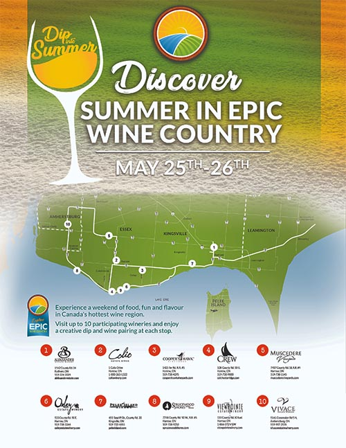 Dip Into Summer EPIC Wineries Poster