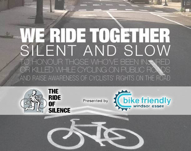 Ride of Silence in Windsor, Ontario.