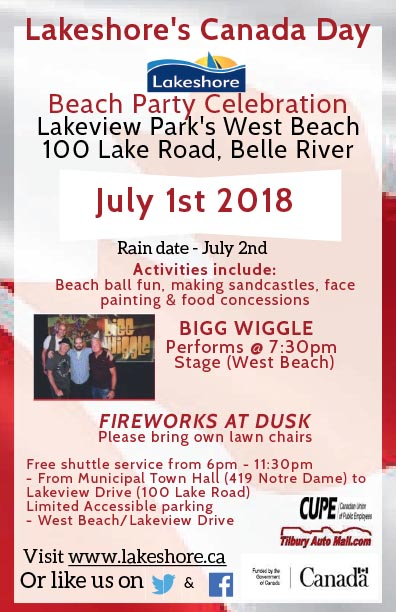 Lakeshore Canada Day Poster