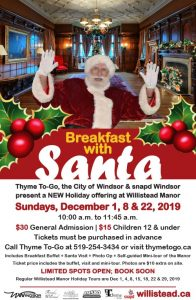 Breakfast With Santa at Willistead Manor Poster