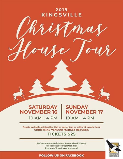 Kingsville Christmas House Tour Poster