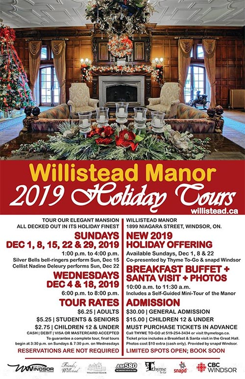 Willistead Manor Holiday Tours Poster
