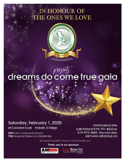in Honour of The Ones We Love Annual Gala & Candle Light Ceremony Poster