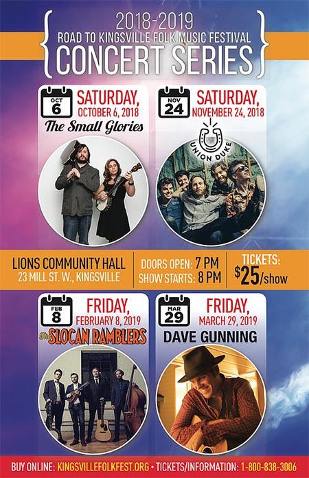 Road To Folkfest Concert Series 2018/2019 Season Poster