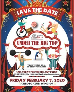 WE Care For Kids Under The Big Top Gala Poster
