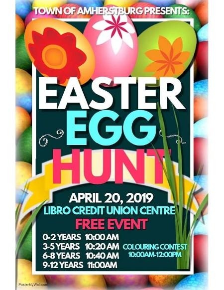 Town of Amherstburg Annual Easter Egg Hunt Poster
