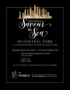 Annual Savour The Sea Gala Hospice of Windsor Essex County Poster