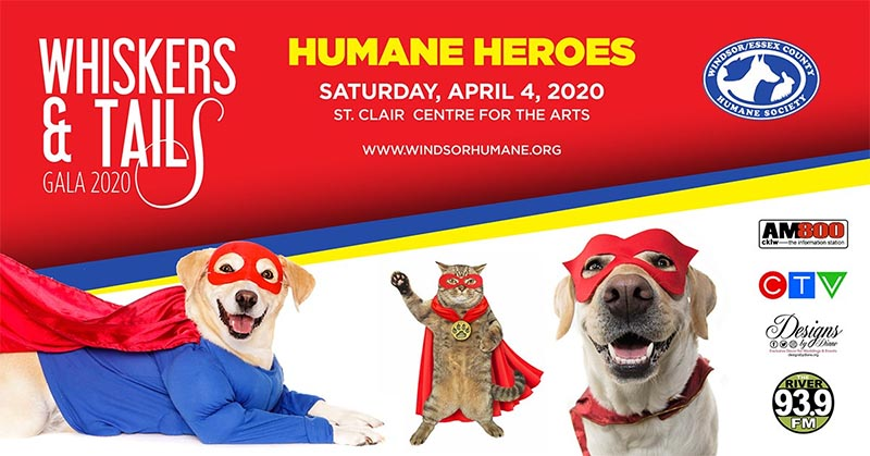 Windsor Essex Humane Society Whiskers & Tails Gala Poster
