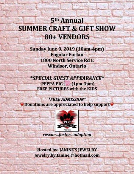 Summer Gift & Craft Show Poster