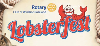 Lobsterfest Windsor-Roseland Rotary Club Logo