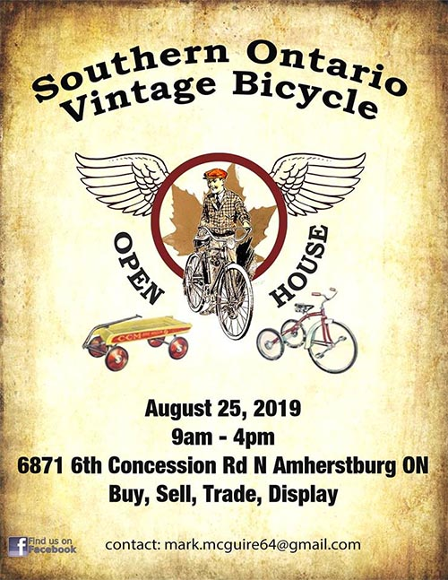 Southern Ontario Vintage Bicycle Open House Poster