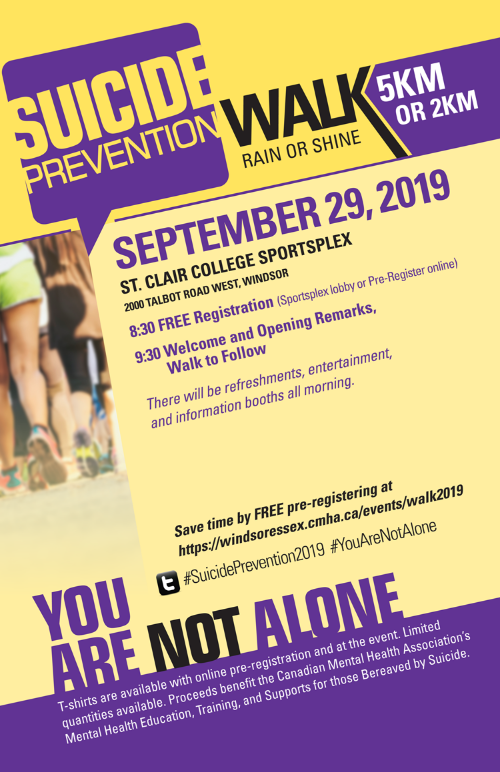 Suicide Prevention Awareness Walk Poster