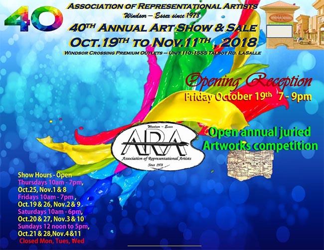 Windsor Essex ARA 40th Annual Art Exhibit & Sale