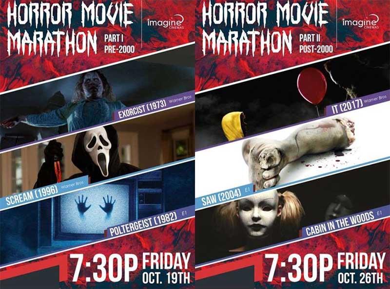 Lakeshore Cinemas Annual Horror Movie Marathon Poster