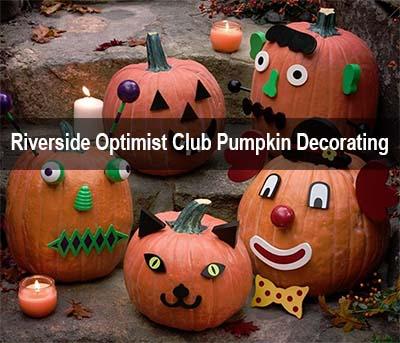 Riverside Optimist Club Annual Pumpkin Decorating Event