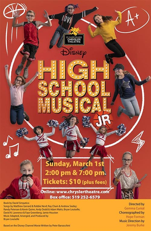 Disney's High School Musical Jr Poster Chrylser Theatre