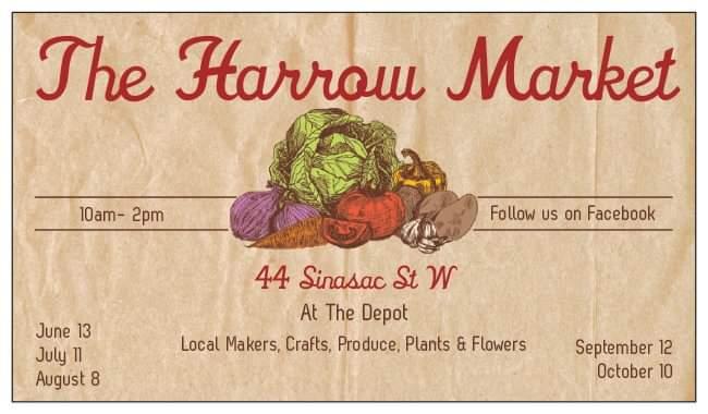 The Harrow Market at the Harrow County Depot and Old Mill.