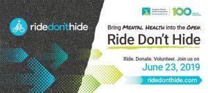Ride Don't Hide Poster   CMHA Windsor Essex