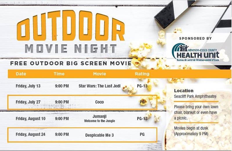 Movie OnThe42 Leamington Outdoor Movie Nights Poster