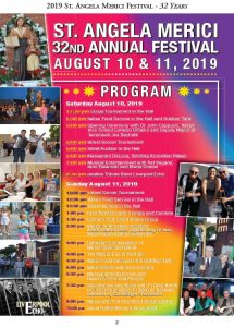 St. Angela Merici Festival 2019 Poster & Schedule of Events