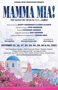 Mamma Mia The Musical Cardinal Music Productions Poster